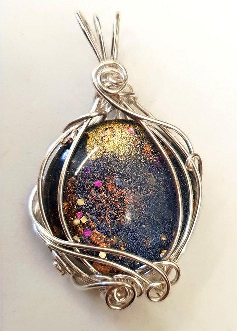 Silver Galaxy Pendant