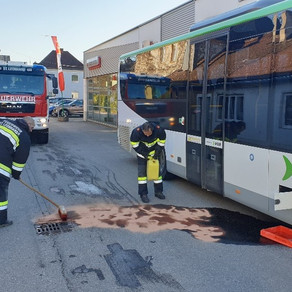 Omnibus verlor Treibstoff