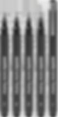 stylefile marker fineliner 5 pcs set bold