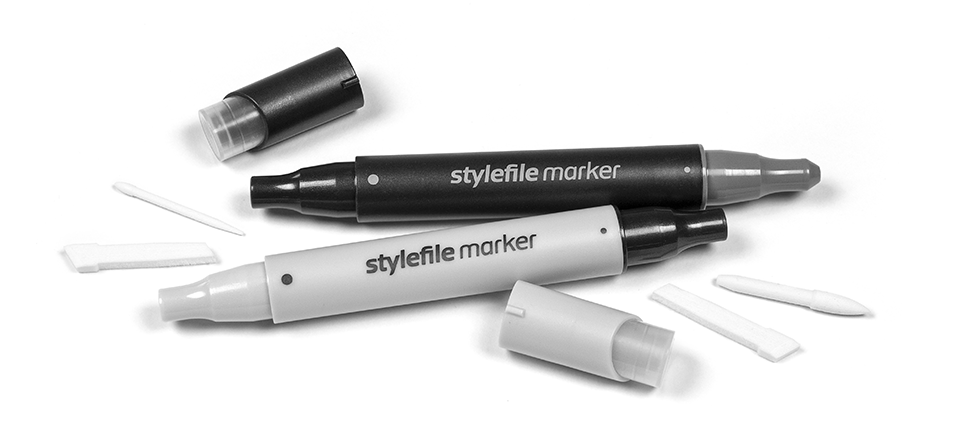 stylefile marker classic and stylefile marker brush empty markers with exchange tips
