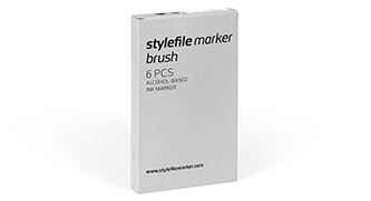 stylefile marker brush 6 pcs try out set