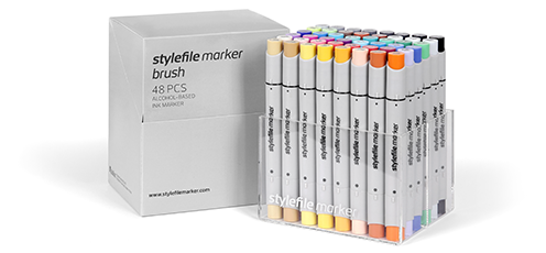 stylefile marker brush 48 pcs sets