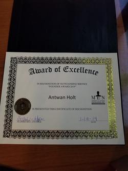 Appreciation dinner award
