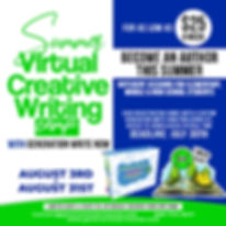 SUMMER VIRTUAL CREATIVE WRITING CAMP AUG