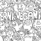 Doodle, krāsojamā lapa
