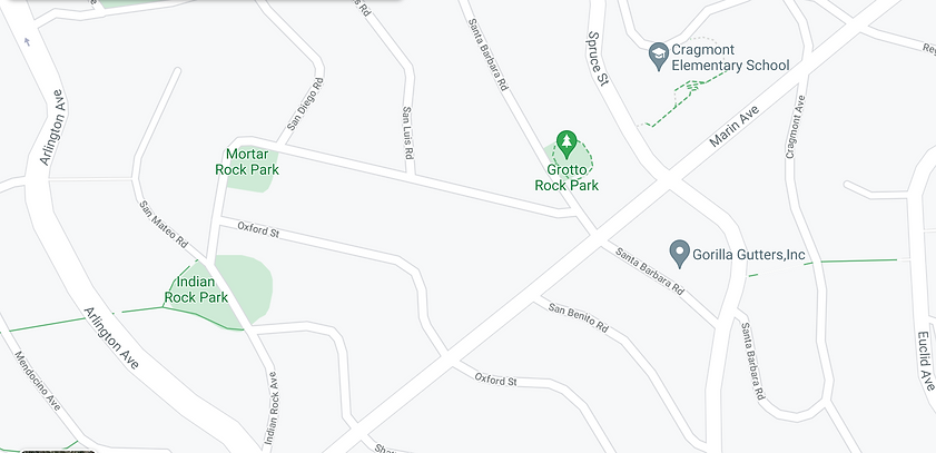 Map of Marin Ave