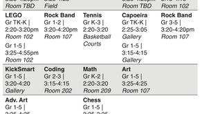 PTA Afterschool Classes Starts