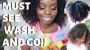 Game Changer Wash and Go on Type 4 Hair With Care Free Curl Products