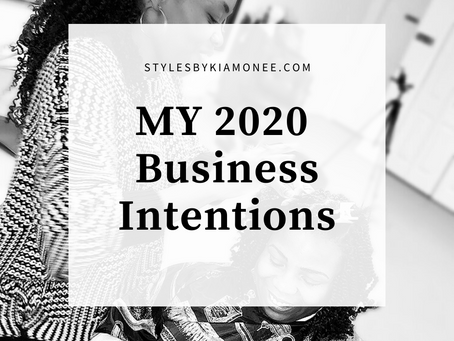 My 2020 Business Intentions