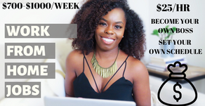Jobs You Can Do From Home and Get Paid Weekly!
