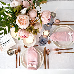 Beautiful holiday Easter table setting,