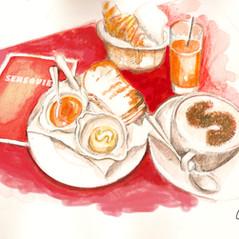 Petite Déjeuner chez Sénéquier