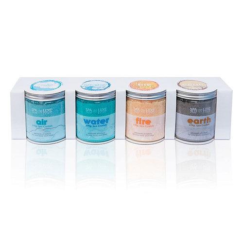 Pack de 4 pots Cristaux pour spa et bain AquaFinesse