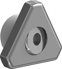 Rotule inox orientable DESIGN de forme triangulaire pour bassin béton/liner