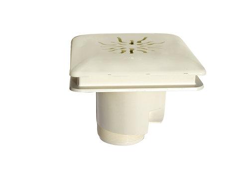 Bonde de fond MTS en ABS blanc avec couvercle carré ABS.