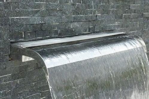 Cascade lame d'eau en inox pour piscine Ideal 80 cm