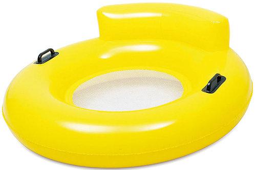 Bouée fauteuil jeu gonflable jaune
