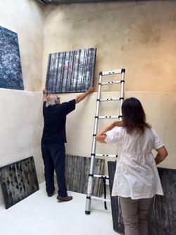 Installation des Galeries