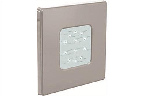 Projecteur Diamond Power inox DESIGN. 12 LED blanches, pour bassin béton/liner
