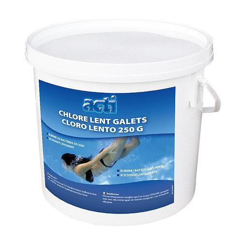 Chlore lent en galets de 200 grammes ACTI 5 Kg
