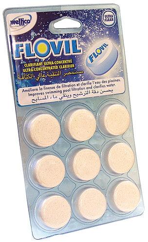 Floculant Flovil Blister de 9 pastilles