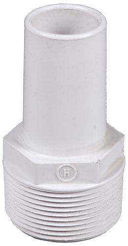 """Prise pour flexible de balai Hayward 38 mm"""" lisse x 1""""1/2 à visser."""