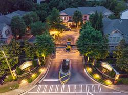 HOA Neighborhood Entrance Outdoor Lighting