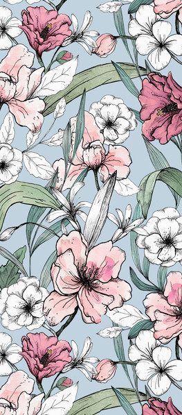 11.07. delicate aquarelle flowers_blue b