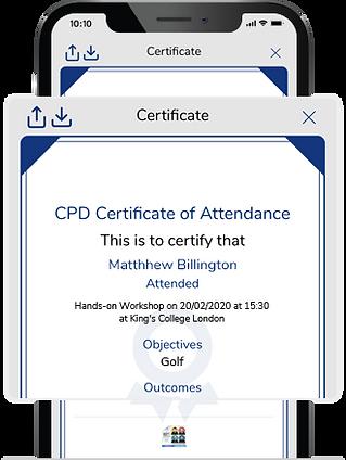 Certificates & Feedback