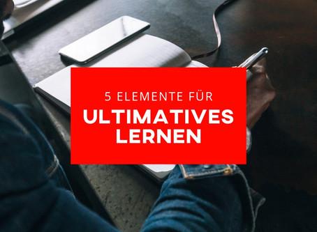 ultimatives Lernen: Die 5 Elemente dafür