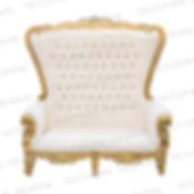 White-Gold Throne Loveseat.JPG