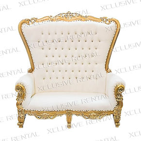 White-Gold Throne Loveseat.JPG
