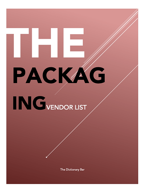 PACKAGING VENDOR LIST