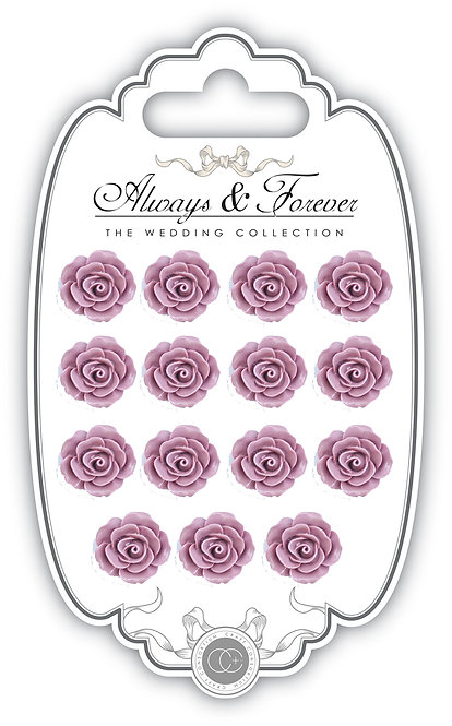 Always & Forever - Resin Flowers - Mauve
