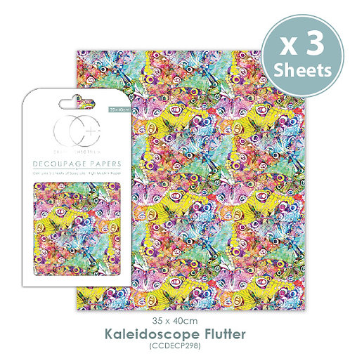 Kaledascope Flutter - Decoupage Papers Set