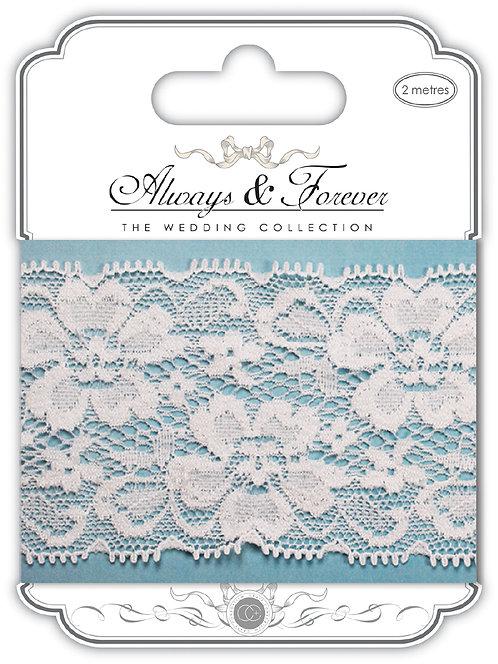Always & Forever - Elegant Lace Ribbon - Floral Notes