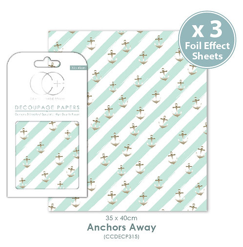 Anchors Away - Metallic Decoupage Papers Set