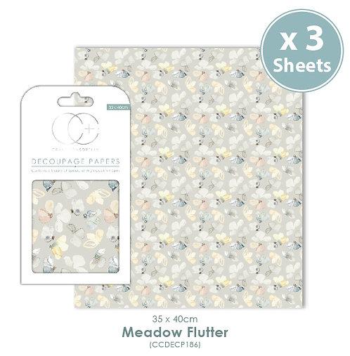 Meadow Flutter - Decoupage Papers Set