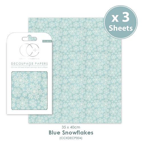 Blue Snowflakes - Decoupage Papers Set