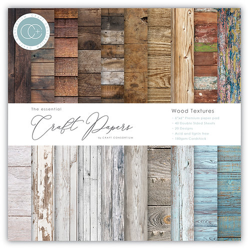 The Essential Craft Papers - 6x6 Wood Textures