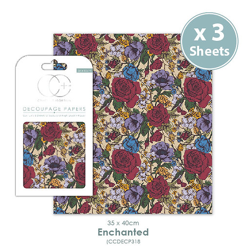 Enchanted - Decoupage Papers Set