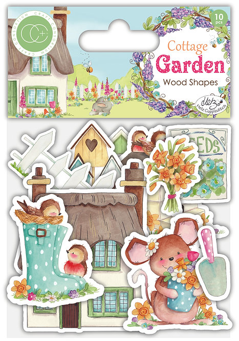 Cottage Garden - Wooden Ephemera Shapes