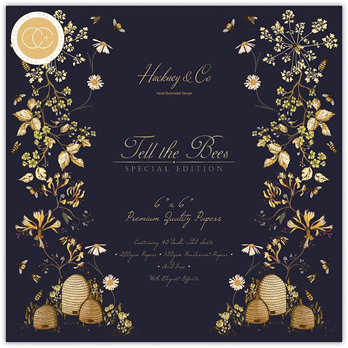 """Tell the Bees - Special Edition - 6""""x6"""" Premium Paper Pad"""