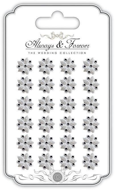 Always & Forever - Adhesive Pearl & Rhinestone Flower