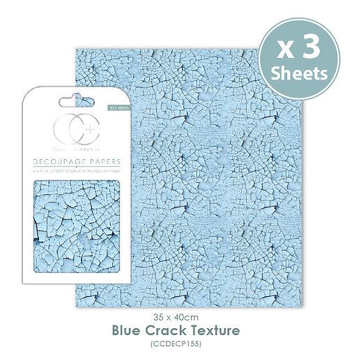 Blue Crack texture - Decoupage Papers Set