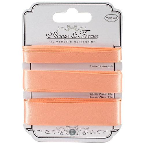 Always & Forever - Elegant Satin Ribbons - Peach