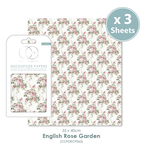 English Rose Garden - Decoupage Paper Set