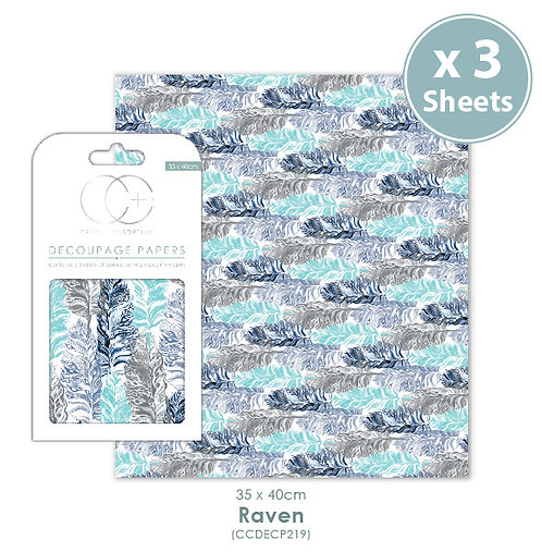 Raven - Decoupage Papers Set