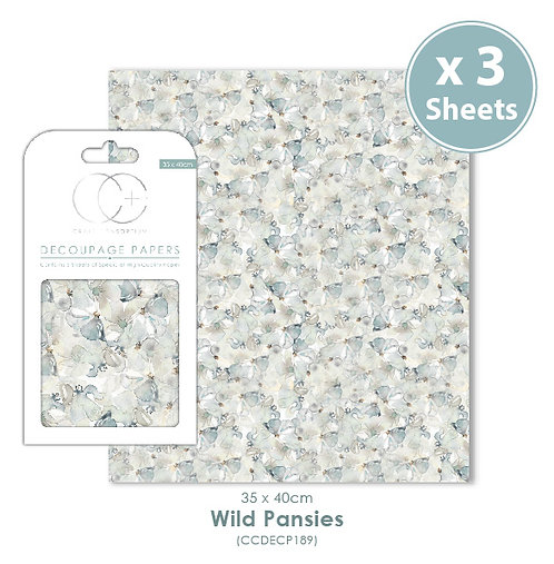 Wild Pansies - Decoupage Papers Set