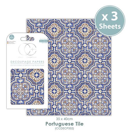 Portuguese Tile - Decoupage Paper Set
